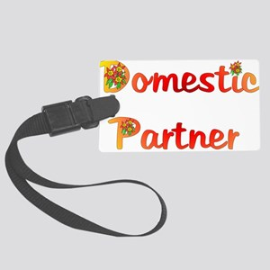 domestic_partner03 Large Luggage Tag