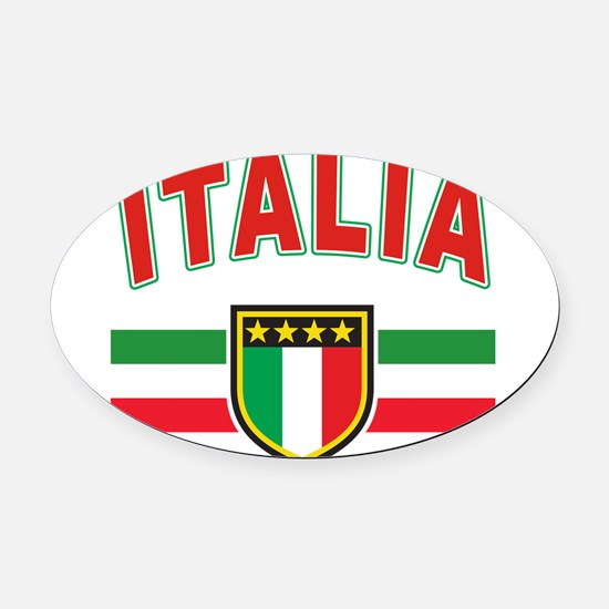 italia.png Oval Car Magnet