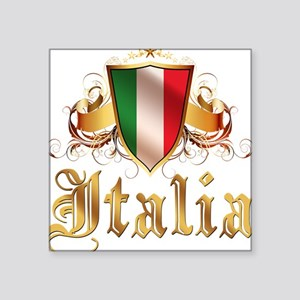 """italy T-Shirt Square Sticker 3"""" x 3"""""""