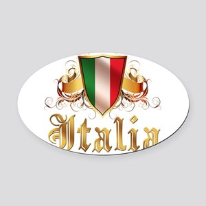 italy T-Shirt Oval Car Magnet