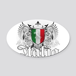 italia_a Oval Car Magnet