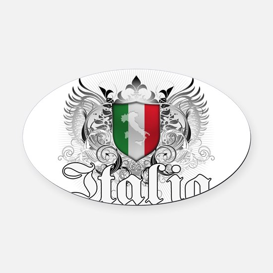 italia_a.png Oval Car Magnet