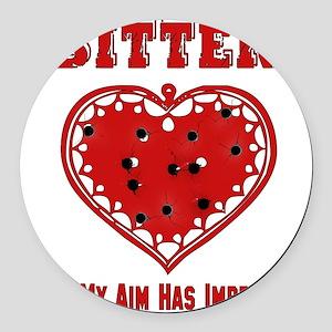 anti_valentine09_6 Round Car Magnet