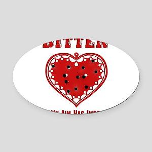 anti_valentine09_6 Oval Car Magnet