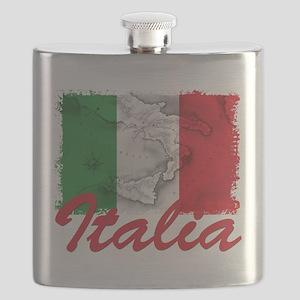 italia rectangle sticker Flask