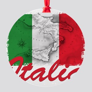 italia rectangle sticker Round Ornament