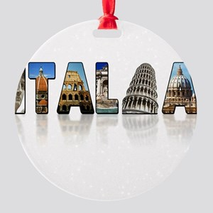 italia shadow Round Ornament