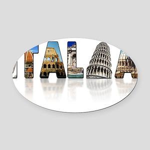 italia shadow Oval Car Magnet