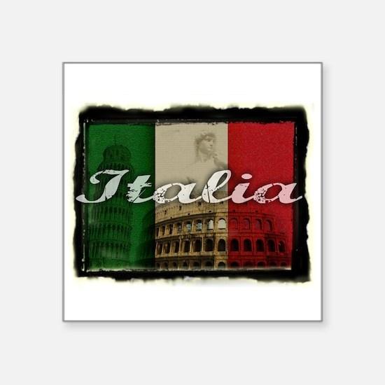 """2-Italia.png Square Sticker 3"""" x 3"""""""