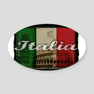 2-Italia Oval Car Magnet