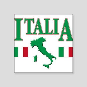 """Italia(blk) Square Sticker 3"""" x 3"""""""
