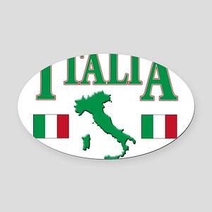 Italia(blk) Oval Car Magnet