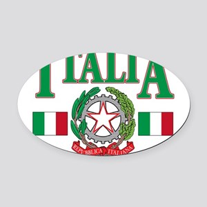 italian pride(blk) Oval Car Magnet