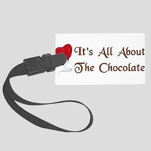 chocolate011 Large Luggage Tag