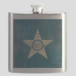 Vintage Houston Flag Flask