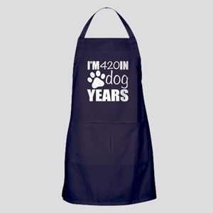 60th Birthday Dog Years Apron (dark)