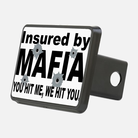 Italian INSURED BY MAFIA(BLK).png Hitch Cover