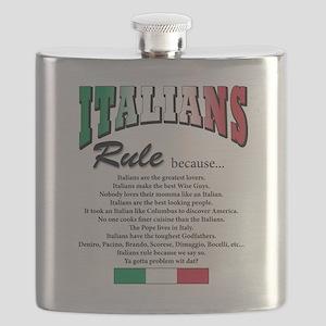 Italians rule T-Shirt Flask