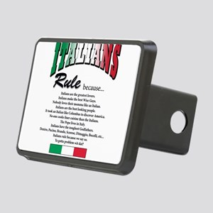 Italians rule T-Shirt Rectangular Hitch Cover