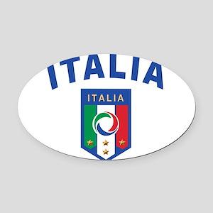 Forza Italia Oval Car Magnet