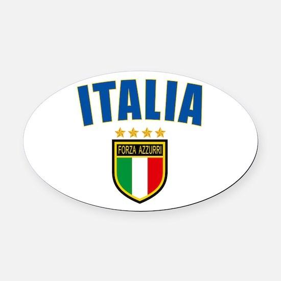 Italian Pride Oval Car Magnet