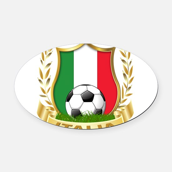 2-italia.png Oval Car Magnet