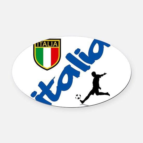 2-italia soccer.png Oval Car Magnet