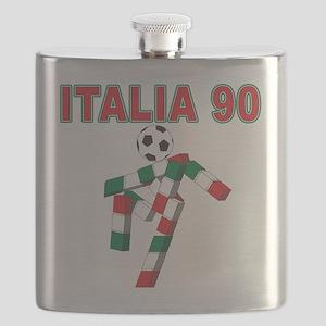 Italian soccer logo(blk) Flask