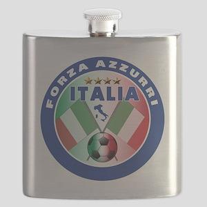 Forza azzurri(blk) Flask