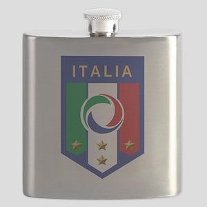italian emblem Flask