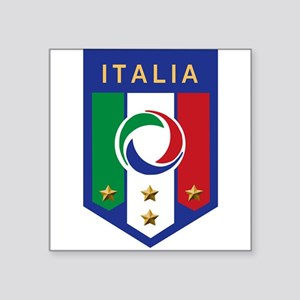 "italian emblem Square Sticker 3"" x 3"""