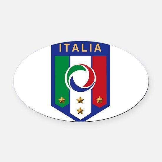 italian emblem.png Oval Car Magnet