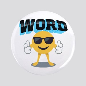 Word Cool Bro Button