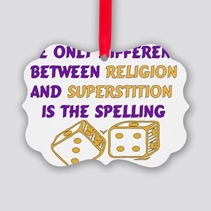 atheism01 Picture Ornament