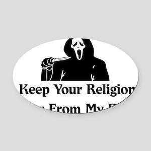 anti_religion01 Oval Car Magnet