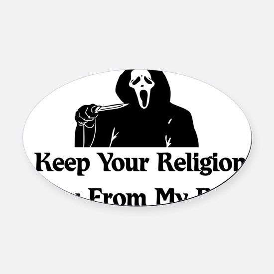 anti_religion01.png Oval Car Magnet
