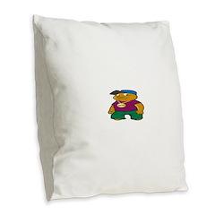 Booo! Burlap Throw Pillow