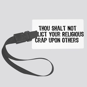 religious_crap01 Large Luggage Tag
