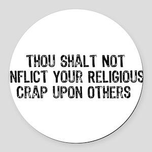 religious_crap01 Round Car Magnet