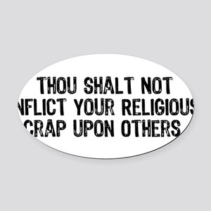 religious_crap01 Oval Car Magnet