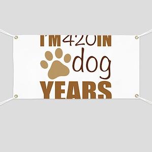 60th Birthday Dog Years Banner