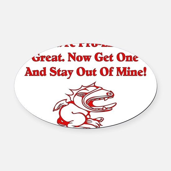 antireligion01.png Oval Car Magnet