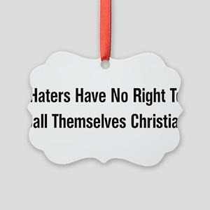 anti_christian01 Picture Ornament