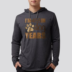 65th Birthday Dog Years Mens Hooded Shirt