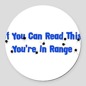 target_practice01 Round Car Magnet