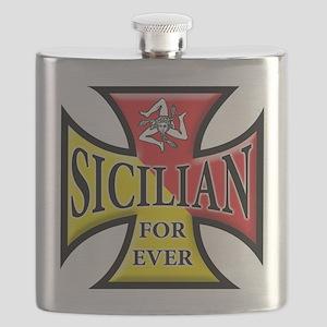 Siclia oval sticker a Flask