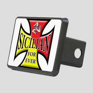 Siclia oval sticker a Rectangular Hitch Cover