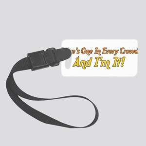 oneineverycrowd01a Small Luggage Tag