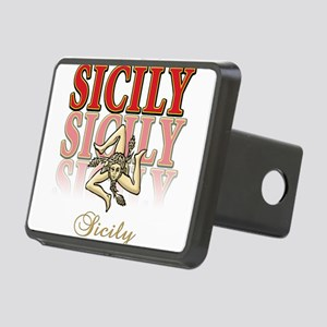 sicily2(blk) Rectangular Hitch Cover