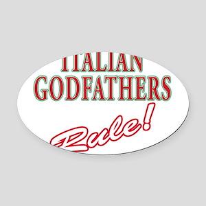 Italian godfather Oval Car Magnet